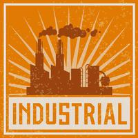 Icono de edificio industrial de construcción