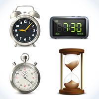 Realistische Uhr eingestellt