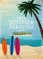 Stampa di viaggio vacanza surf