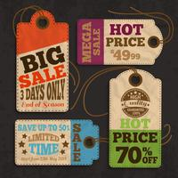 Winkelen labels en tags verzamelen