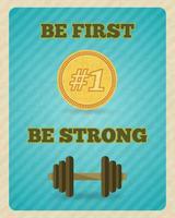 Fitness fuerza ejercicio motivación cartel