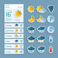 Weather Paper Widgets Set