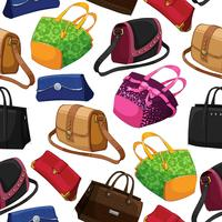 Seamless woman's fashion bags background