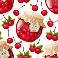 Cherry jam naadloze patroon