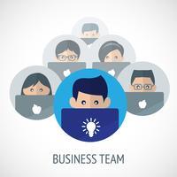 Emblema de equipo de negocios