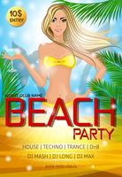 Night club beach party poster