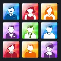 Set di icone social avatar