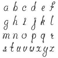Kalligrafie alfabet zwart