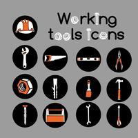 Carpenter Working Tools Icons Set