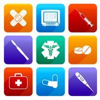 Flat medical icons