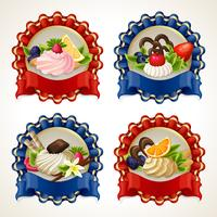 Sweets ribbon banners