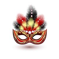 Venezianisches Karnevalsmaske-Emblem