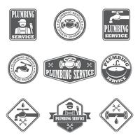 Emblemas de serviço de encanamento