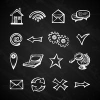 Internet chalkboard icons