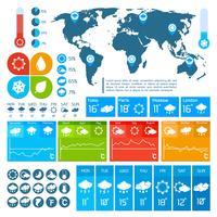 Diseño infográfico del pronóstico del tiempo