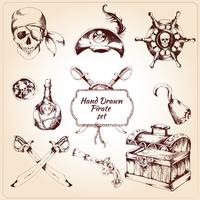 Pirates decorative icons set