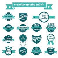 Conjunto de etiquetas de precios de productos