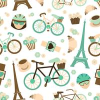 Bicycle seamless pattern