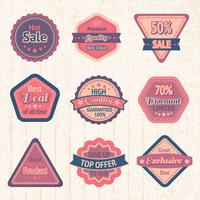 Vintage sale labels and badges set