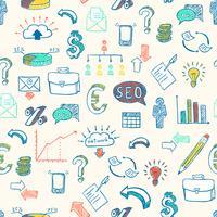 Patrón de doodle de negocios