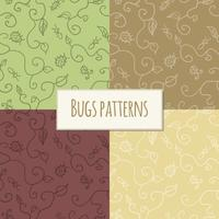 Seamless bugs pattern vector