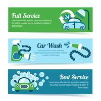 Car wash banners