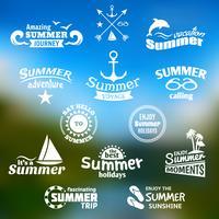 Ensemble d'étiquettes d'éléments d'été
