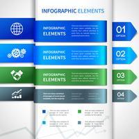 Abstrakt pappersföretag infographics element