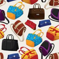 Sömlös kvinna mode väskor mönster
