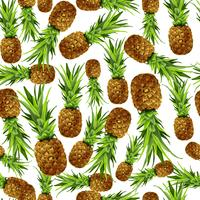 Ananas sömlös mönster