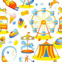 Amusement park seamless pattern