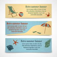 Banners de férias de verão horizontais