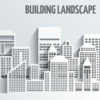 Emblema de paisagem de construção