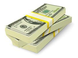 Concepto de billetes de pila de dinero