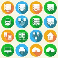 Hosting-Technologie-Icons Set