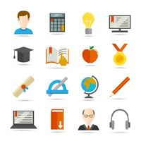 E-learning icono plana