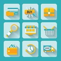 Shopping en ligne Icons Set