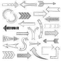 Arrows icons set sketch vector