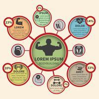Infographie de sport de musculation de remise en forme