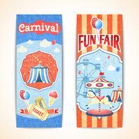 Banners de carnaval vintage verticais