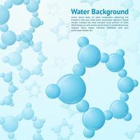 Water molecules background vector