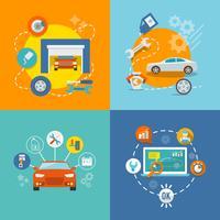 Icono de auto servicio plano