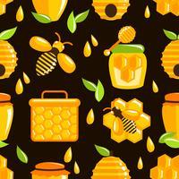 Honung sömlös mönster