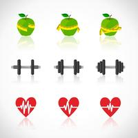 Fitness övningar framsteg ikoner