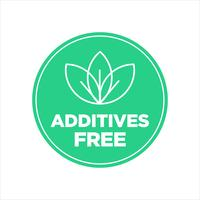 Additives free icon.