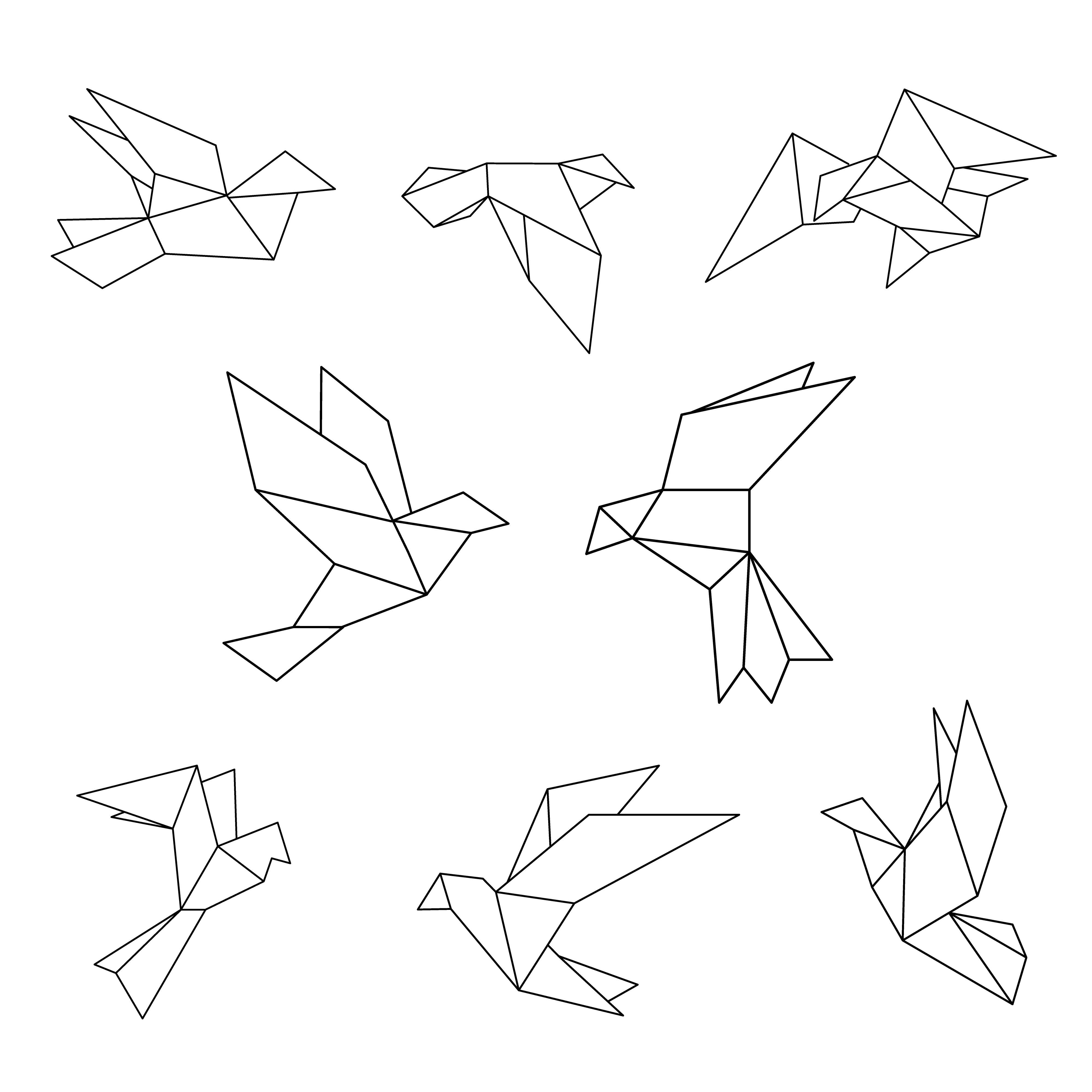 bd4d6c0ce Conjunto de línea negra paloma geométrica. - Descargue Gráficos y Vectores  Gratis