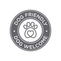 Dog friendly icon vector