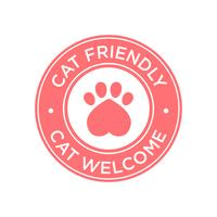 Icono de gato amigable.