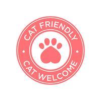 Icono de gato amigable. vector