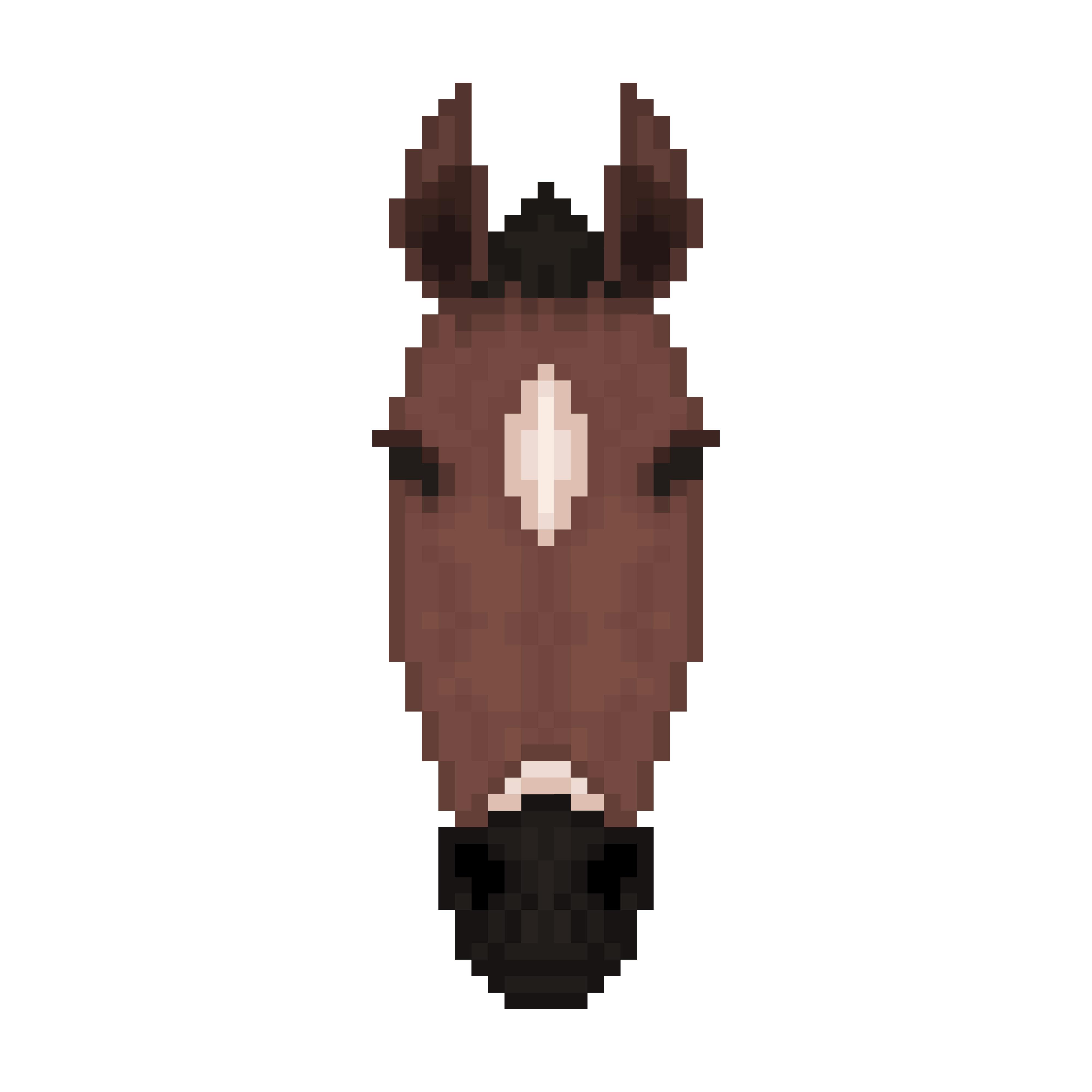 Tête De Cheval Dans Le Style Pixel Art Telecharger